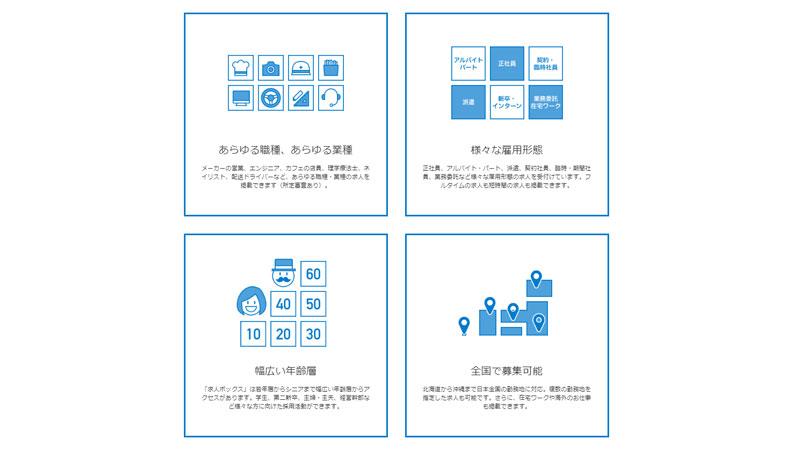 求人ボックスはあらゆるニーズを持つ多様なユーザー属性